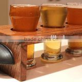 wine gifts personalized slate and bamboo beer wood flight set tray