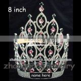 Beauty colored crystal queen pageant crown