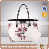 4125 PAPARAZZI Guangzhou Handbag Manufacturer digital printing mother bag tote handbag With Outside Wallet