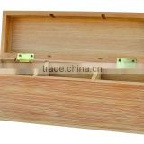 hot selling FSC&SA8000&BSCI bamboo compartments wooden tea bags storage packing gift box