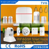 smart home 3g wireless security system with Motion sensor door sensor GSM WIFI home security Alarm System