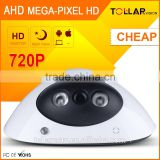 Cheapest HD h.264 720P AHD bat Plastic indoor IR night vision dome security hd cctv camera
