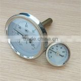 industrial hot water temperature gauge positive temperature bimetallic thermometer
