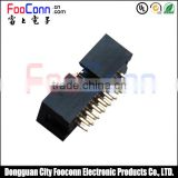 Top quality 2.54mm pitch dual row 2*8p 16 pin Straight IDC Box header connector with black color