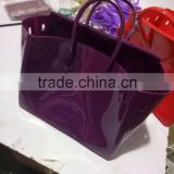 Xianjian 2016.8.26 New Color Old Mauve PVC Candy Jelly Bag with padlock(B lock) and twilly and strap (BSHT002)