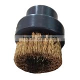 brass wire mini hair brush with plastic handle