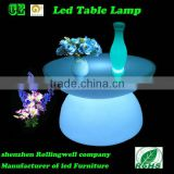 small led plastic bar table/ colour changing tea globe table
