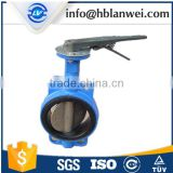 ISO Standard Trade Assurance Ductile Iron Handle Manual Wafer Center Butterfly Valve D71X-16