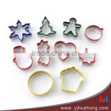 10 pcs food grade colorful Christmas stainless steel cookie,DIY baking & pastry tools (HCM-M31)