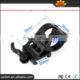 KC3008 Aluminum Alloy 30mm Ring 20mm Weaver Rail Mount For Gun,Quick Disassembly 21mm Flashlight/Scope Mount