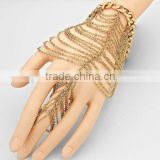 Layers chain hand harness gold slave bracelet SP6176