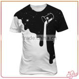 Cool Design Promotion Black & White Men Cotton T Shirt Custom Printing China Wholesale