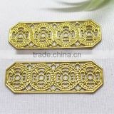 filigree flower garment accessories brass flower shoe bag hair accessories jewelry accessories