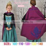 wholesale girls dress with capes kids long sleeve dresses for 3-8 years children cosplay dresses