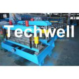 Color Steel Glazed Tile Roll Forming Equipment , 5.5 Kw Main Motor Power Roll Former Machine