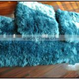 Updating 50cm*50cm Lamb Fur Seat Cushion For sale/OEM