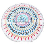 100% Cotton Large Round Lotus Flower Mandala Light Weight Tapestry - Outdoor Beach Roundie - Hippie