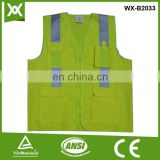 factory /suppliers polyester made design high visibility security warning reflective yellow warn protect vest