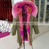 2017 Top Selling Winter Luxury Colorful Fox Fur Jacket For Women