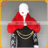 Colorful detachable big fox fur collar for clothes or match alone