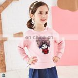 T-GH504 2017 Hot New Products Crew Neck Girls Pink Sweatshirts