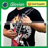New music guitar T-shirt electronic music t-shirt New EL guitar t-shirt