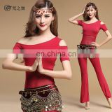 T-5123 High modal comfortable fabric adult short sleeve bellydance wear