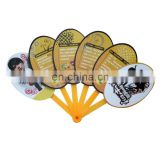 custom made foldable 6 plastic ribs advertising plastic hand fan