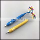 Customized fancy children gift soft pvc magnet ball pen