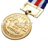 Wholesale High Quality Sports Golden Metal Medal with Lanyard