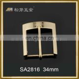 Embossed logo Top grade square brass belt buckle
