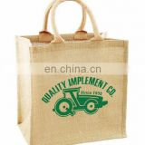 Customized jute tote bag