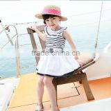 2014 new fashion casual 100% cotton kids beautiful model dresses for girl