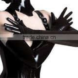 Instyles Sexy Lingerie Black PU leather GLOVES Wetlook Shining Spandex Long Gloves Erotic