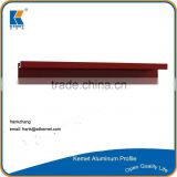 red powder coating 6063-t5 aluminum window frames