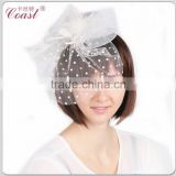 fashion cheap decorative white bridal mini top hats sale for party