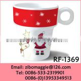 Promotional Porcelain Drinking Mug with Christmas Design for Copper Mugs Wholesale