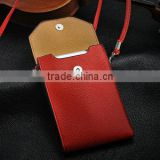 Luxury red shoulder bag leather case for sony l39h , cute case for sony z1