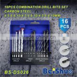 Factory Supply High Carbon Steel Combination Drill Bit Set for Metal and Wood and Concrete