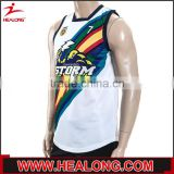 Acceptance sample Dye-Sublimation Printing sleeveless rugby jersey                                                                         Quality Choice