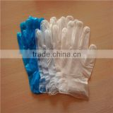 Vinyl examination gloves blue, clear vinyl disposable gloves, CE ISO supported vinyl hand use gloves
