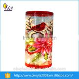 2016 home decoration elegant wireless different types cracked glass vase for centerpiece