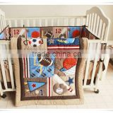 sporting boys crib bedding set matress cover set from professional manufacturer