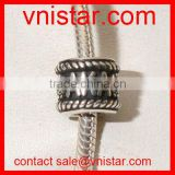 Vnistar antique silver metal alloy european style AKA large hole beads for sorority jewelry making TB071