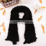 Fashion Black Women's Winter Changeable Long Warm Stretchy Wrap Microfiber Magic Scarf Shawl Ladies Scarves