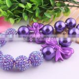 AAA Quality Wholesale handmade chunky bead necklace in bulk!Fashion charming Christmas necklaces for little girls