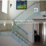 Modern design Glass Handrail , stainless steel handrail, glass stainless steel balustrade with CE,TUV,ISO Approval