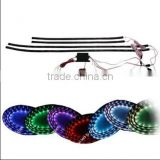"Waterproof 36""x2 24""x2 7 Color RGB Wireless Remote Car Vehicle Underbody LED Glow Strip Light"