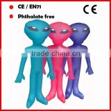 PVC inflatable Alien toys for kids with custom logo printed