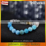 Natural weathering agate stone Hand string prayer beads Bracelets fitness Jewelry